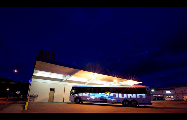 Greyhound  Bus  in Canada