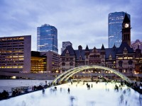 Skaters at the ice rink at Nathan Philips Square, ©Benson Kua/Flickr