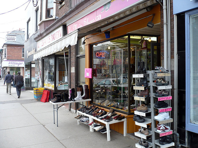 Bakery and Shoes at Roncesvalles Village, ©Joey DeVilla/Flickr