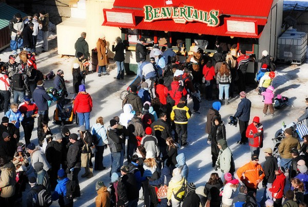 People line up for beaver tails during Winterlude Festival on the Rideau Canal, ©Vince Alongi/Flickr